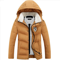 New Brand Men's White Duck Down Jacket Casual Solid Turn-dwon Collar Parka Winter Jacket Men Fashion Overcoat Outerwear - CelebritystyleFashion.com.au online clothing shop australia