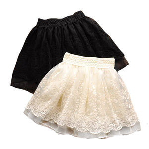 Fashion Cute Lace Flower Teenagers Skirt Mini Princess Children Skirt Suit 12~20 Age Girls Tutu Skirt - CelebritystyleFashion.com.au online clothing shop australia