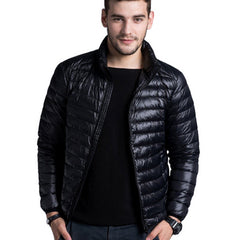 Men casual warm Jackets solid thin breathable Winter Jacket Mens outwear Coat Lightweight parka Plus size XXXL - CelebritystyleFashion.com.au online clothing shop australia