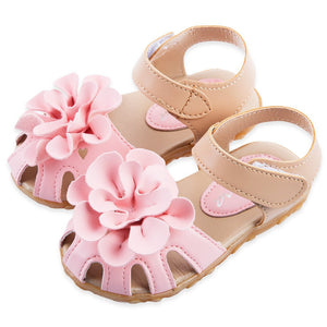 Cool PU Leather Girls Shoes kids Summer Baby Girls Sandals Shoes Skidproof Toddlers Infant Children Kids Flower Shoes Size 21-30 - CelebritystyleFashion.com.au online clothing shop australia