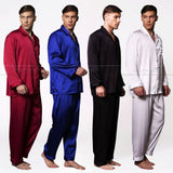 Mens Silk Satin Pajamas Set Pyjamas Set Pjs Sleepwear Loungewear - CelebritystyleFashion.com.au online clothing shop australia