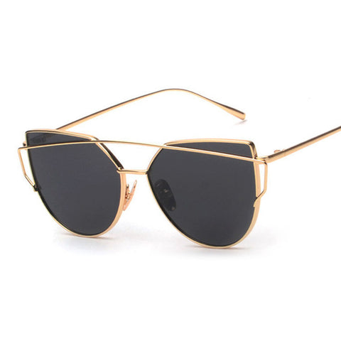 BOUTIQUE New Women 6 Colour Luxury Cat Eye Sunglasses Women Sunglasses Double-Deck Alloy Frame UV400 - CelebritystyleFashion.com.au online clothing shop australia