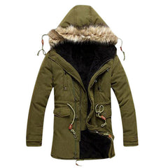 Men Coat Men's Solid Causal Long Warm Coat Male Fashion Padded Hooded Winter Wear Thick Coat MWM060 - CelebritystyleFashion.com.au online clothing shop australia