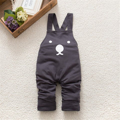 New Cute Baby Boy Girls Bib Pants Overalls Bear Print Harem Pants Long Trousers - CelebritystyleFashion.com.au online clothing shop australia