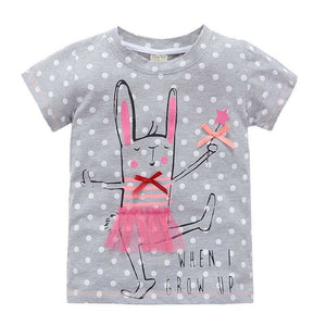2-10 years baby Girl t-shirt big Girls tees shirts children blouse big sale super quality 100% cotton kids summer clothes - CelebritystyleFashion.com.au online clothing shop australia