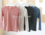 Korean Baby Kids Girl Dots Long Sleeve T-shirt Tops Blouse Tee Shirt 2-7Year - CelebritystyleFashion.com.au online clothing shop australia