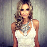 Bohemian Fashion Crystal Long Coin Necklace For Women High Quality Punk Statement Necklace Choker Women Necklaces & Pendants - CelebritystyleFashion.com.au online clothing shop australia