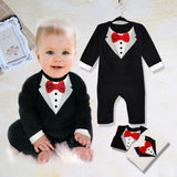 New Baby Kid Boy Cotton Gentleman Jumpsuit Romper Bodysuit Clothes Outfit 4Sizes - CelebritystyleFashion.com.au online clothing shop australia