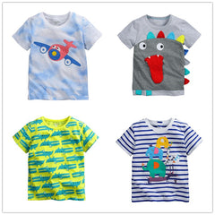 1-6Y Baby Boy T-shirt boys shirts children Tees Short sleeve shirts Summer Kids Tops Cartoon plane trucks Clothing Cotton stripe - CelebritystyleFashion.com.au online clothing shop australia