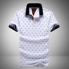 New Brands Mens Printed POLO Shirts Brands 100% Cotton Short Sleeve Camisas Polo Stand Collar Male Polo Shirt M-3XL.EDA234 - CelebritystyleFashion.com.au online clothing shop australia
