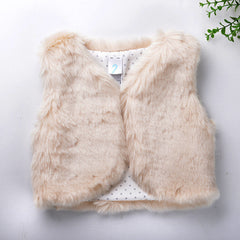 autumn winter Baby sleeveless faux fur vest baby girl winter waistcoat fur vest for baby clothing - CelebritystyleFashion.com.au online clothing shop australia