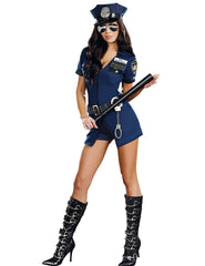 3 Pcs New Ladies Police Fancy Halloween Costume Sexy Outfit Woman Cosplay Sexy Police Costumes for Women - CelebritystyleFashion.com.au online clothing shop australia