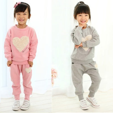 Free Shiping love clothing kids girls clothes sets,baby girl long sleeve + pant set Children love sports kids clothing sets - CelebritystyleFashion.com.au online clothing shop australia