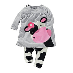 winter baby girl clothes casual long-sleeved T-shirt+Pants suit Tracksuit the cow suit of the girls - CelebritystyleFashion.com.au online clothing shop australia