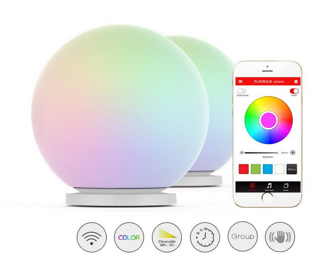 Color ChangingPLAYBULB Sphere Smart Color Changing Waterproof Dimmable LED Glass Orb Light Floor Lamp Night Lights Tap to Change Color