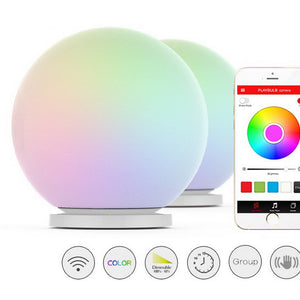 PLAYBULB Sphere Smart Color Changing Waterproof Dimmable LED Glass Orb Light Floor Lamp Night Lights Tap to Change Color