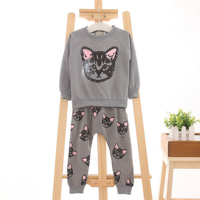 Children Girl clothes sets long sleeve sweatshirt and Pants Kids Outfits sport suit 2-7years - CelebritystyleFashion.com.au online clothing shop australia