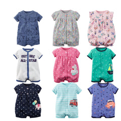 Summer Baby Girl Clothes Kid Jumpsuit Baby Boy Body Suit Clothing Short Sleeve Romper - CelebritystyleFashion.com.au online clothing shop australia