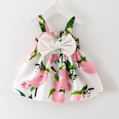 New Baby Dress Infant girl dresses Lemon Print Baby Girls Clothes Slip Dress Princess Birthday Dress for Baby Girl - CelebritystyleFashion.com.au online clothing shop australia
