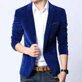 Mens blazer slim fit suit jacket black navy blue velvet spring autumn outwear coat Suits For Men - CelebritystyleFashion.com.au online clothing shop australia