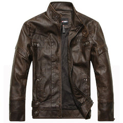 Motorcycle Leather Jackets Men Autumn Winter Leather Clothing Men Leather Jackets Male Business casual Coats Brand New clothing - CelebritystyleFashion.com.au online clothing shop australia