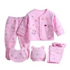 5pcs/set Newborn Baby 0-3M Clothing Set Brand Baby Boy Girl Clothes 100% Cotton Cartoon Underwear - CelebritystyleFashion.com.au online clothing shop australia
