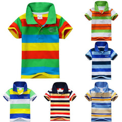 Summer 1-7Y Baby Children Boys Striped T-shirts Kids Tops Tee Polo Shirts Clothing - CelebritystyleFashion.com.au online clothing shop australia
