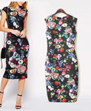 New Autumn Beach Dresses Elegant Slim Women's Dresses Pencil Vestidos Floral Sexy Bodycon Long Party Sexy Dresses AA8062 - CelebritystyleFashion.com.au online clothing shop australia