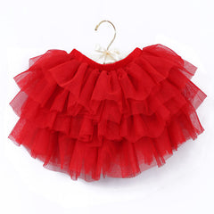 2-10Y New Fashion Children Girl Tutu Skirts Baby Ballerina Skirt Kids Chiffon Fluffy Casual Candy 7 Color Skirt - CelebritystyleFashion.com.au online clothing shop australia