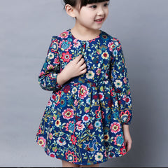 Fashion Baby Dress Long Sleeve Pirncess Girls Clothes Spring Autumn Winter Children Dresses For Girl Floral Clothing Vestidos - CelebritystyleFashion.com.au online clothing shop australia