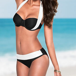 High Waisted Bathing Suits Halter Top Push Up Bikini Set - CelebritystyleFashion.com.au online clothing shop australia
