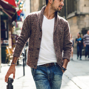 Sweater Men New Brand Autumn Winter Turn-down Collar Knitted Cardigans Pull Homme Plus Size - CelebritystyleFashion.com.au online clothing shop australia