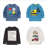 1-8 years Boys T-shirt Kids Tees Baby Boy brand t shirts Children tees Long Sleeve 100% Cotton cardigan sweater jacket shirts - CelebritystyleFashion.com.au online clothing shop australia