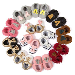 Fashion New Styles Suede PU Leather Infant Toddler Newborn Baby Children First Walkers Crib Moccasins Soft Moccs Shoes Footwear - CelebritystyleFashion.com.au online clothing shop australia