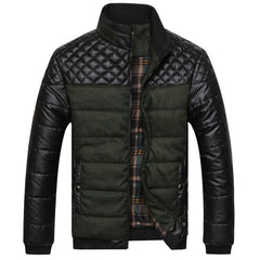 New Classic Brand Men Fashion Warm Jackets Plus Size L-4XL Patchwork Plaid Design Young Man Casaul Winter Coats, EDA0116 - CelebritystyleFashion.com.au online clothing shop australia