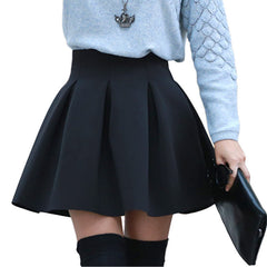 High Waist Women Skater Skirt Spring AutumnJoker Black Wine Red Purple Skirts Womens Saia Korean Style Ball Gown Faldas - CelebritystyleFashion.com.au online clothing shop australia