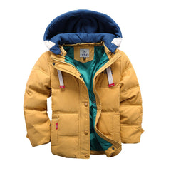 New children Down & Parkas 4-10T winter kids outerwear boys casual warm hooded jacket for boys solid boys warm coats - CelebritystyleFashion.com.au online clothing shop australia