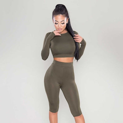 Kylie Jenner Style - New Arrival Two Piece High Waist Short Jumpsuit Many colors -  - 2