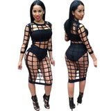 3 Piece Set Bandage Party Dress Kim Kardashian Style -  - 1