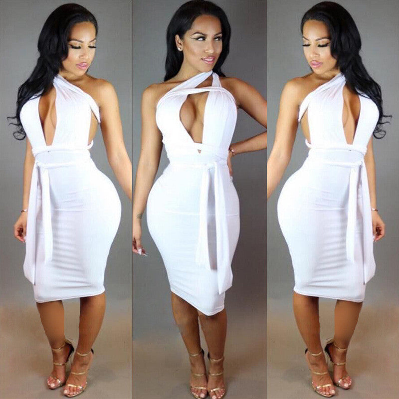 Backless Strapless Pleated Bandage Elegant Party Dress - CELEBRITYSTYLEFASHION.COM.AU - 2