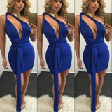 Cross Deep V-neck Backless Sleeveless Dress - CELEBRITYSTYLEFASHION.COM.AU - 6
