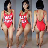 Letter Printed Backless IDFWU Swimsuit Swimwear -  - 3