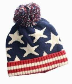 7fe0cec827fbbc Kids children winter warm hats boys and girls knitted wool puffer Ball hats  cap Star design