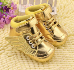 Soft Non-slip PU Newborn Baby First Walkers Shoe Infant Child Gold Pony Wing Toddler Boots Boy Girl Angel Wings Booties 0-2T - CelebritystyleFashion.com.au online clothing shop australia
