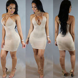 Sleeveless Bandage Strap Dress Kylie Jenner Style - CELEBRITYSTYLEFASHION.COM.AU - 2