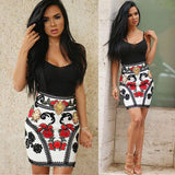 Sleeveless Spaghetti Strap Floral Mini Length Short Print Dress - CELEBRITYSTYLEFASHION.COM.AU - 2