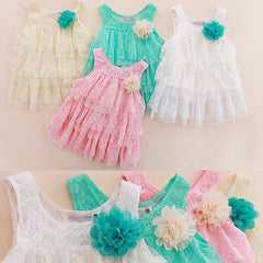 Baby Girl Dress Children Clothing Summer Kids Princess Fower Lace Tutu Dress - CelebritystyleFashion.com.au online clothing shop australia