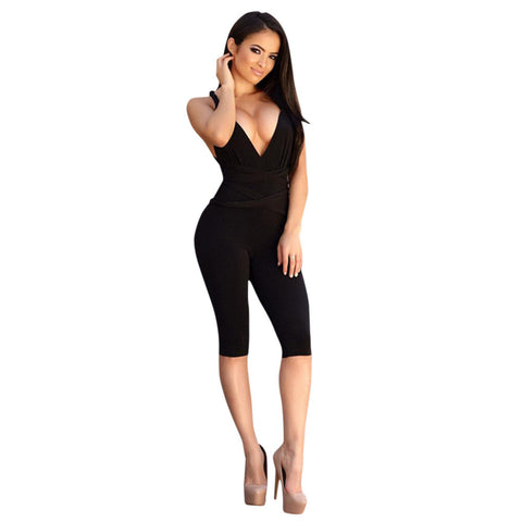 Strapless Jumpsuit Overalls Bodysuit Playsuit - CELEBRITYSTYLEFASHION.COM.AU - 1