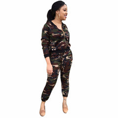 Camouflage Two Piece Playsuit Elegant Jumpsuit - CELEBRITYSTYLEFASHION.COM.AU - 1