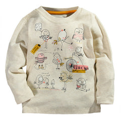 Autumn Winter 100% Cotton Kids T Shirt Cartoon Bird Long Sleeve Baby Boys Girls T-Shirt Children Pullovers Tee Boys Clothes - CelebritystyleFashion.com.au online clothing shop australia